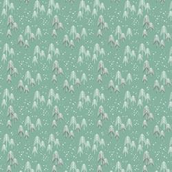 Free Spirit Fabrics Snowy Day Flannel FNSP003 Aqua