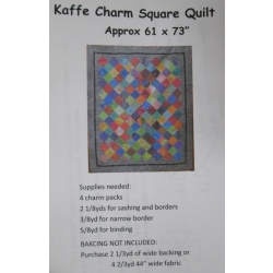 Kaffe Charm Square Quilt pattern from Creations