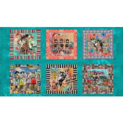 Moda Lipstick Cowgirl Panel fabric 31720 11
