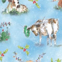 Quilting Treasures Christmas Longhorn 28361 B