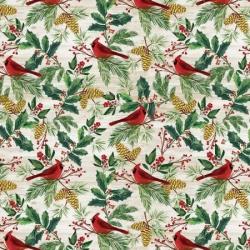 Timeless Treasures Christmas Print C8658 Natural