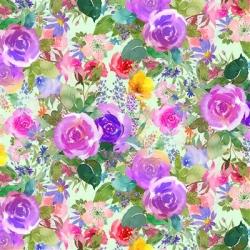 Clothworks Flower Shop Y3299 27 Purple
