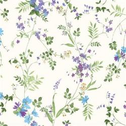 Clothworks Flower Shop Y3300 27 Purple