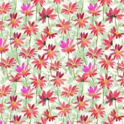Clothworks Flower Shop Y3301 74 Raspberry
