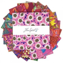 """Kaffe Fassett Collective Pre-cut 10"""" charm squares August 2021 Bright"""