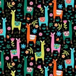 Micheal Miller Fabrics Painted Llama DCX9793 Black