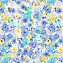 Michael Miller Blue Muse CXC9723 Blue
