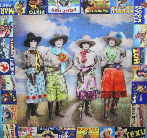 Lipstick Cowgirls by Shari Jenkins for Moda Fabrics