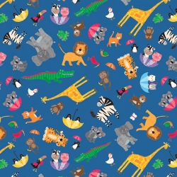 Clothworks Noah & Friends Animals Y3334-89