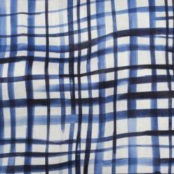 Telio Printed Linen 42422 02 Blue