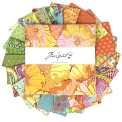 Kaffe Collective Pre-cuts Ten Inch Squares Parakeet