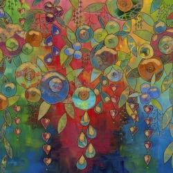 Flourish by Sue Penn for Free Spirit Fabrics PWSP028 Multi
