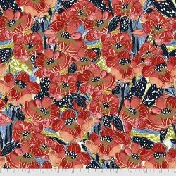 Free Spirit Fabrics Boho Blooms PWKK02 Red