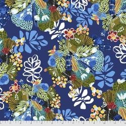 Free Spirit Fabrics Boho Blooms PWKK023 Indigo