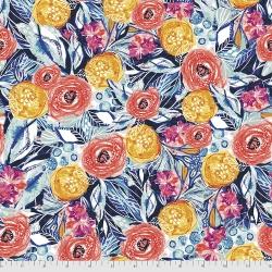 Free Spirit Fabrics Boho Blooms PWKK028 Multi