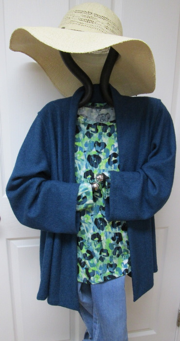 Creations garment knit top and wool jacket