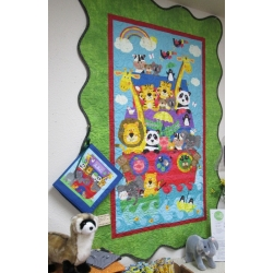 Scallop Border Noah's Ark Baby Quilt from Creations