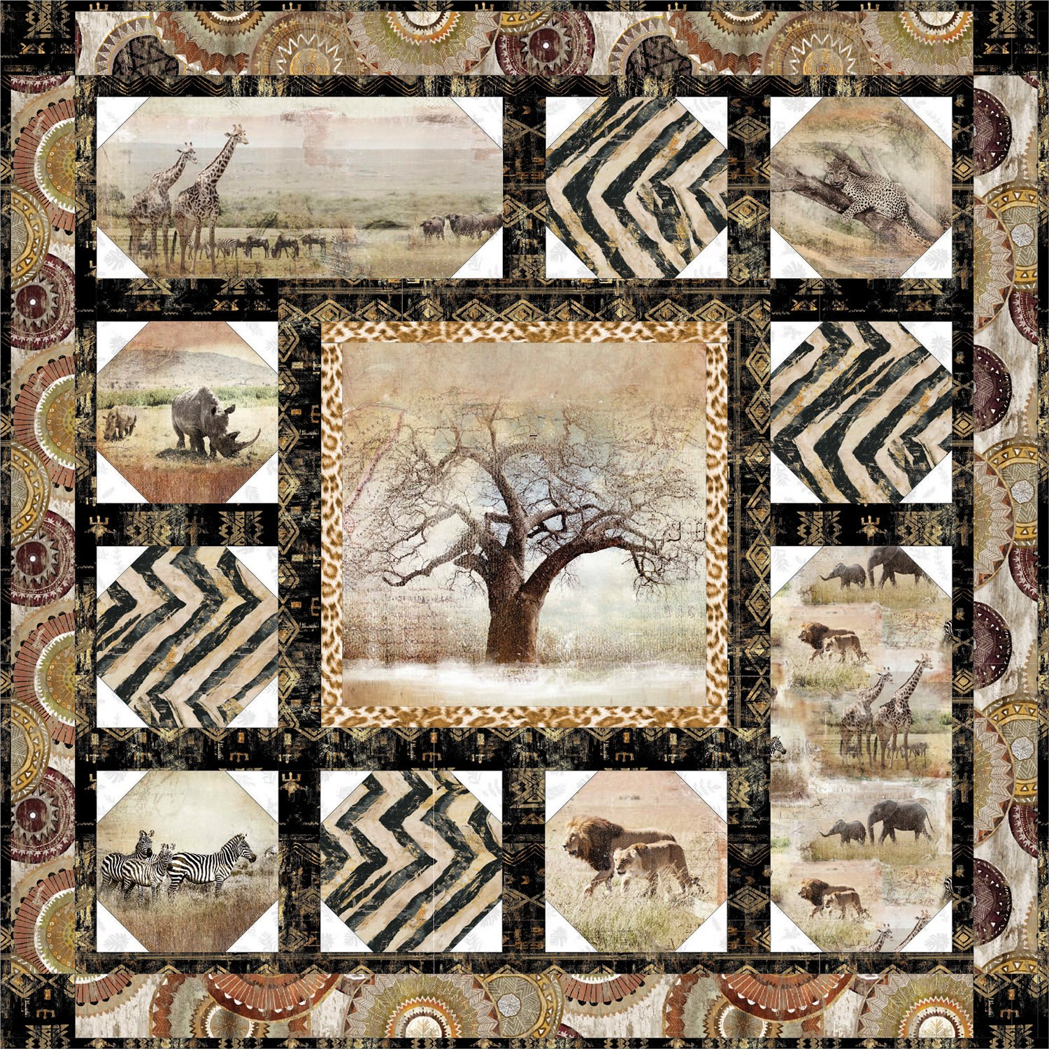 GLobal Luxe African Quilt Kit from Creations